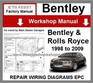 Bentley and Rolls Royce Workshop Service Repair Manual Download