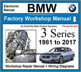 BMW 3 Series Workshop Service Repair Manual