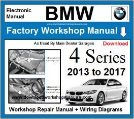BMW 4 Series Service Repair Workshop Manual