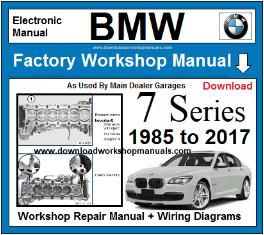 Bmw 7 Series Service Repair Workshop Manual