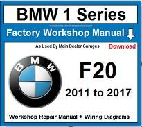 Service and Repair Official Workshop Manual For BMW 1 Series F20 2011-2017