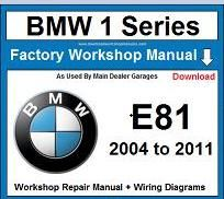 Service Repair Official Workshop Manual For Bmw 1 Series E81