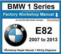 Service Repair Official Workshop Manual For Bmw 1 Series E82