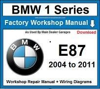 Service Repair Official Workshop Manual For Bmw 1 Series E87