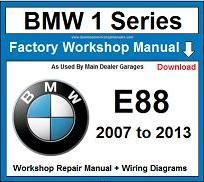 Service Repair Official Workshop Manual For Bmw 1 Series E88