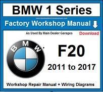 Service Repair Official Workshop Manual For Bmw 1 Series F20