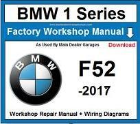 Service Repair Official Workshop Manual For Bmw 1 Series F52
