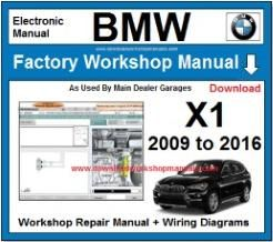BMW X1 Workshop Repair Manual Download