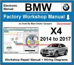 BMW X4 Workshop Repair Manual Download