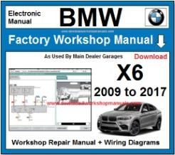 BMW X6 Workshop Repair Manual Download