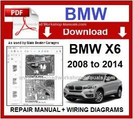BMW X6 E71 PDF Workshop Repair Manual Download