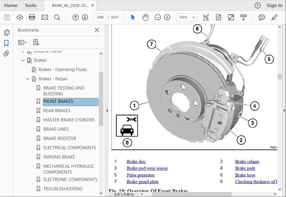 New Pair Disc Brake Pad Wear Sensor Front+Rear For 2008 2009-2014  BMW X5 X6