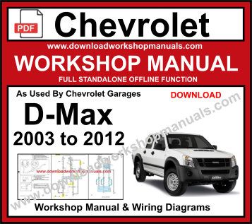 Chevrolet DMAX Workshop Repair Service Manual