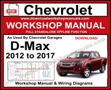 chevrolet dmax service repair workshop manual download