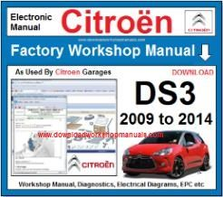 Citroen DS3 Workshop Manual Download