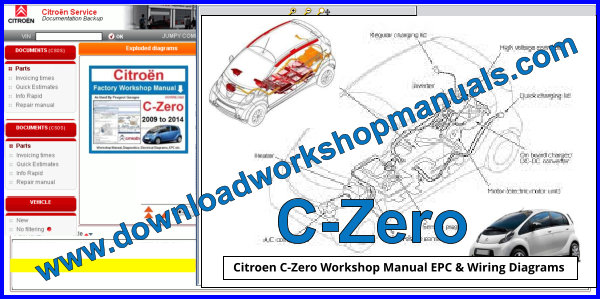 Citroen C-Zero Wiring Diagrams Workshop Manual and EPC