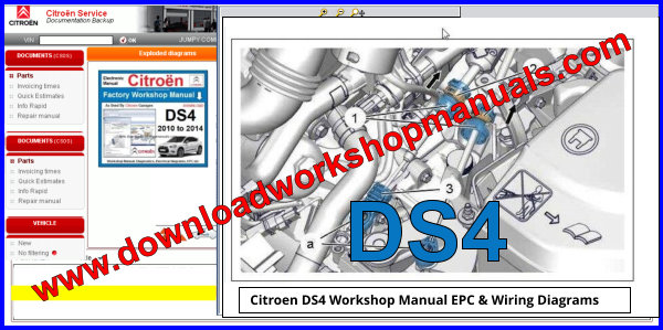 Citroen DS4 Workshop Manual EPC plus Wiring Diagrams