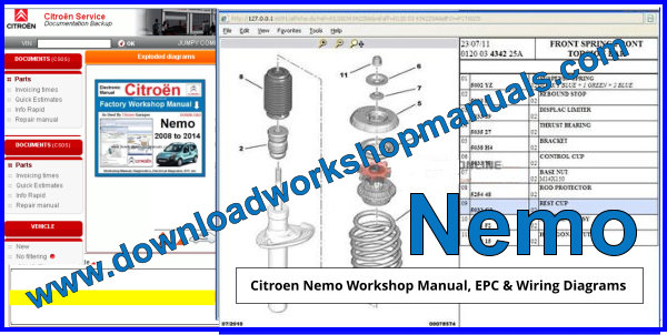 Citroen Nemo Workshop Manual EPC and Wiring Diagrams