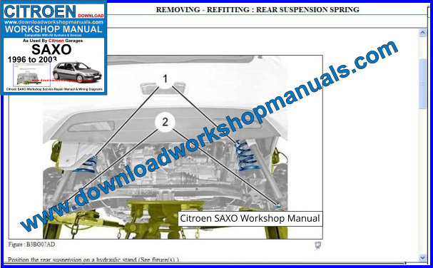 Citroen SAXO Repair Manual