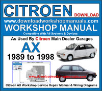 citroen ax 1992 repair service manual