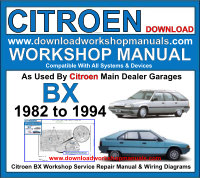 Citroen BX Workshop Manual Download