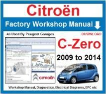 Citroen C-Zero Workshop Service Repair Manual Download