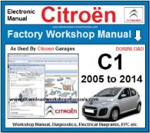 Citroen C1 Workshop Manual Download
