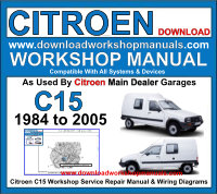Citroen C15 Workshop Manual Download