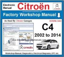 Citroen C4 Workshop Manual Download