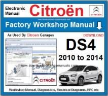 Citroen DS4 Workshop Manual Download