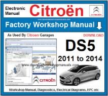 Citroen DS5 Workshop Manual Download