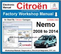 Citroen Nemo Workshop Manual Download