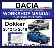 Dacia Dokker Service Repair Workshop Manual