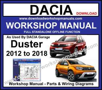 Dacia Duster Workshop service Repair Manual