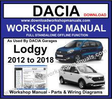 Dacia Lodgy Service Repair Workshop Manual