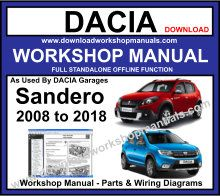 Dacia Sandero Service Repair Workshop Manual
