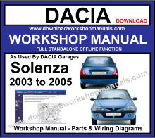 Dacia Solenza Service Repair Workshop Manual