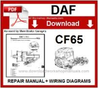 Daf  CF65 Service Repair Workshop Manual download