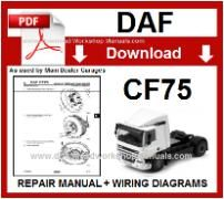 Daf  CF75 Service Repair Workshop Manual download