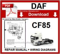 Daf  CF85 Service Repair Workshop Manual download