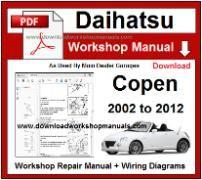 daihatsu copen service repair workshop manual download