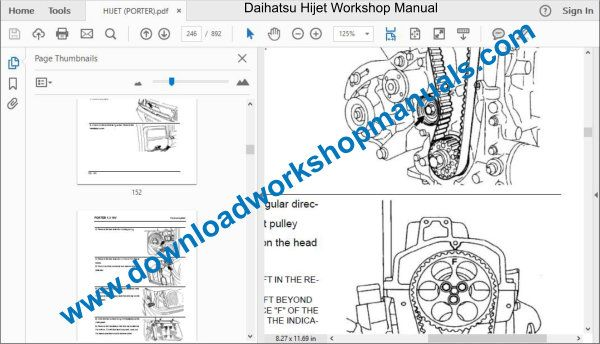 Daihatsu Hijet Repair Service Workshop Manual