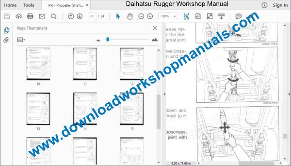 Daihatsu Rugger Repair Service Workshop Manual