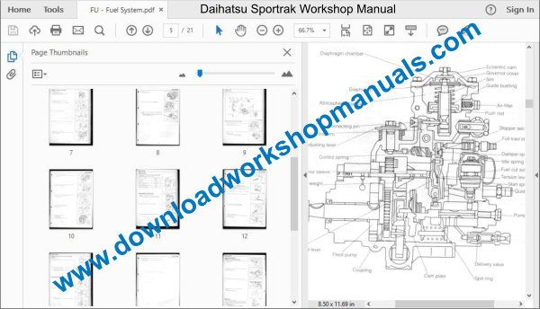 Daihatsu Sportrak Repair Workshop Manual Service