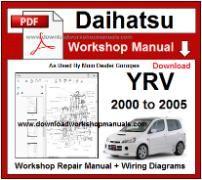 daihatsu yrv service repair workshop manual download