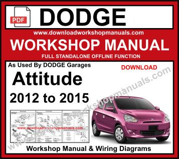Dodge Attitude Service Repair Workshop Manual Download