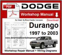 Dodge Durango Service Repair Workshop Manual pdf