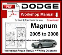 Dodge Magnum Service Repair Workshop Manual pdf