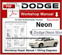 Dodge Neon Service Repair Workshop Manual pdf
