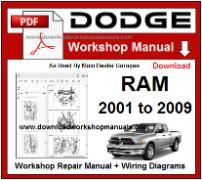 Dodge Ram Service Repair Workshop Manual pdf